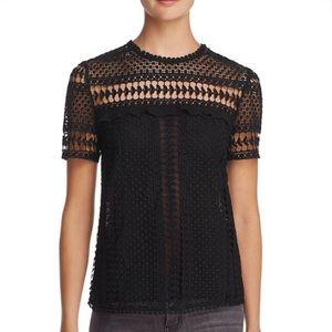 """""""Aqua Dot"""" Boutique, Black Lace Blouse"""